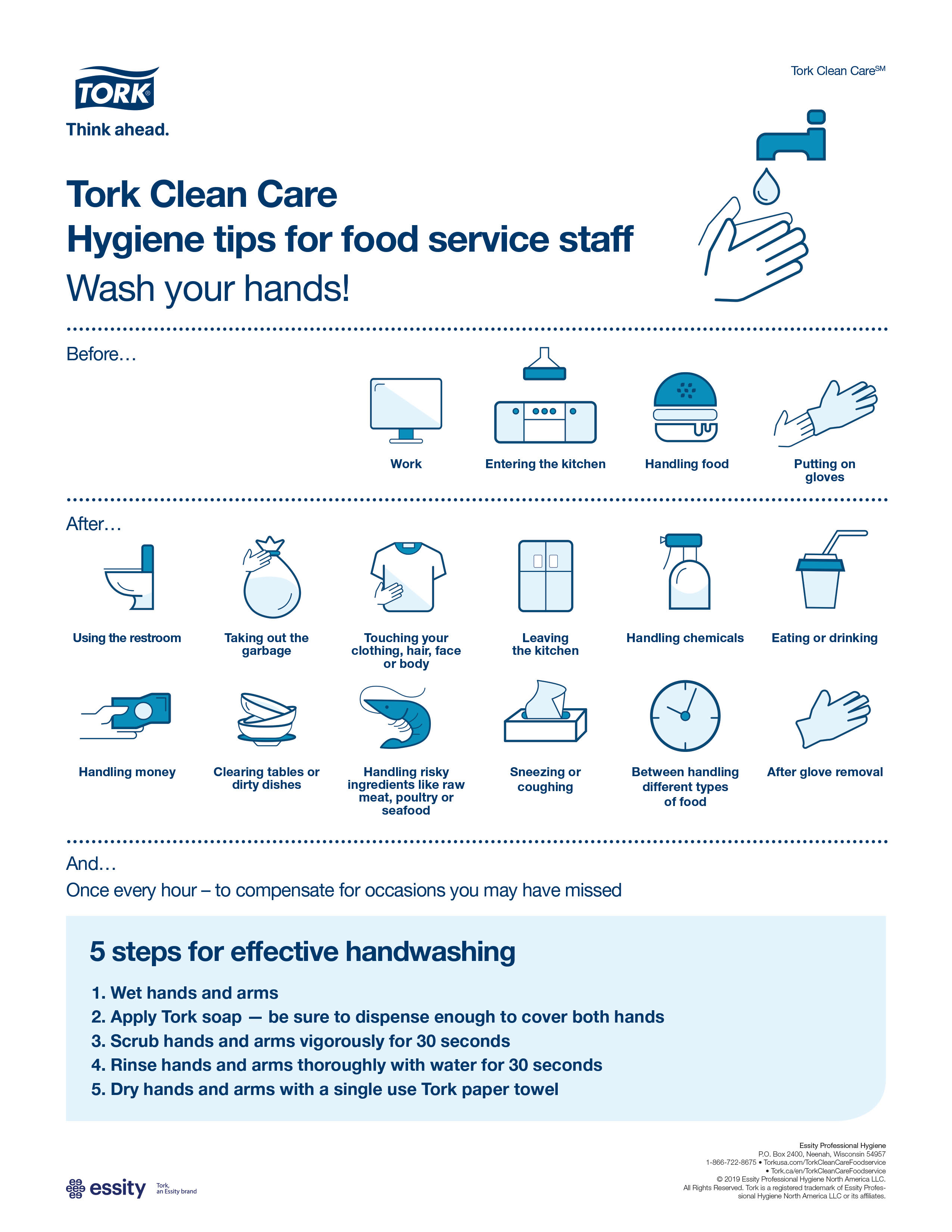 Hygiene tips for food service staff